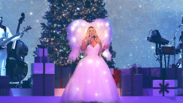 Mariah Carey, durante su actuación navideña en Madrid