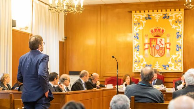 Manuel Escribano, durante el juicio