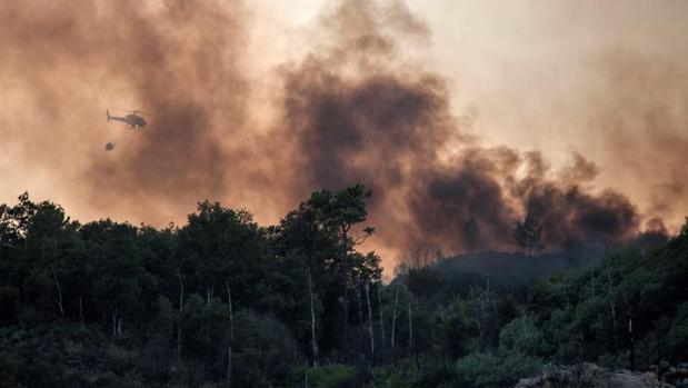 Incendio forestal registrado en Monterrei, Orense, a finales de agosto pasado
