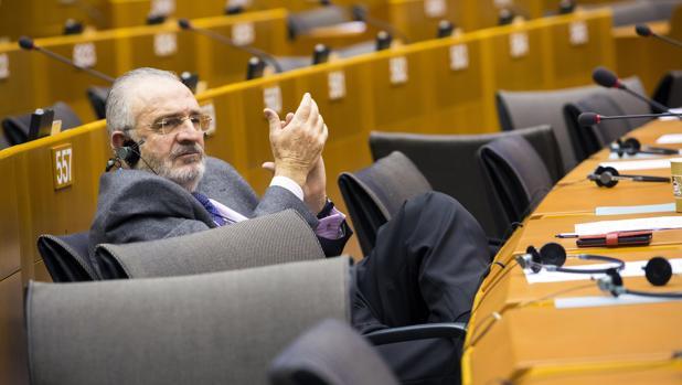 El eurodiputado del PP Agustín Díaz de Mera, durante una sesión en el Parlamento Europeo