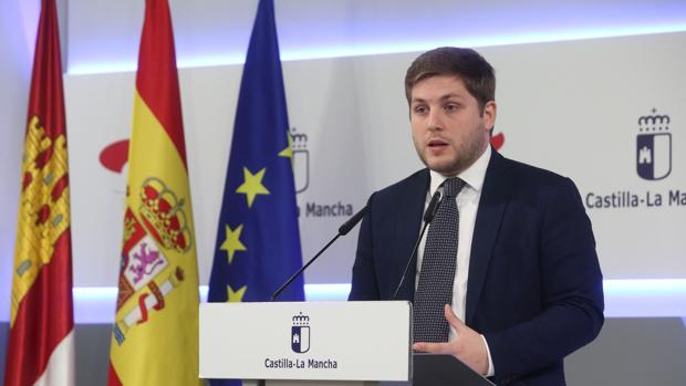 Nacho Hernando, portavoz del Gobierno regional, durante la rueda de Prensa