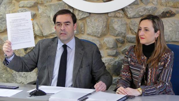 Los diputados del PP Alberto Pazos y Teresa Egerique