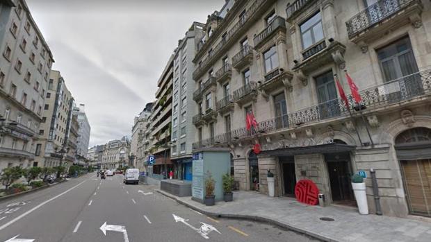 Calle de García Barbón, en el centro de Vigo