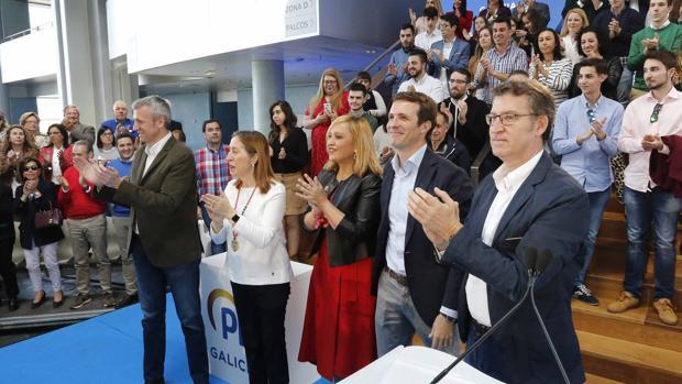 Rueda, Pastor, Muñoz, Casado y Núñez Feijóo
