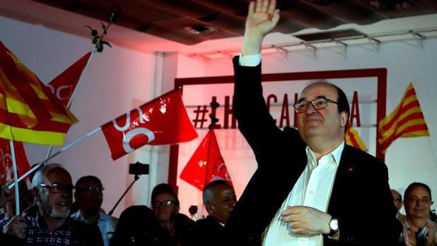 Miquel Iceta, en un mitin del PSC, el pasado 24 de marzo