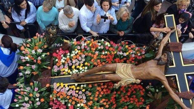 Un momento de la Procesión del Cristo del Morenet