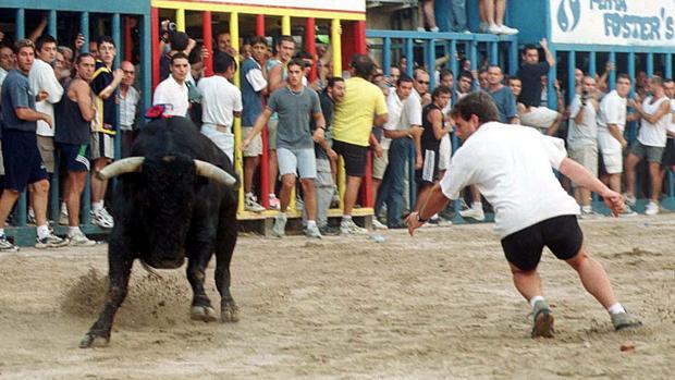 Imagen de archivo de uno de los encierros de los festejos taurinos en la Comunidad Valenciana