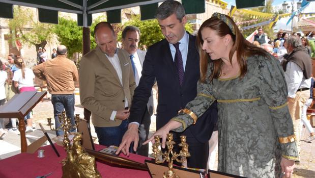 El presidente de la Diputación, Álvaro Gutiérrez, y la alcaldesa, Silvia Díaz, en la edición del año pasado