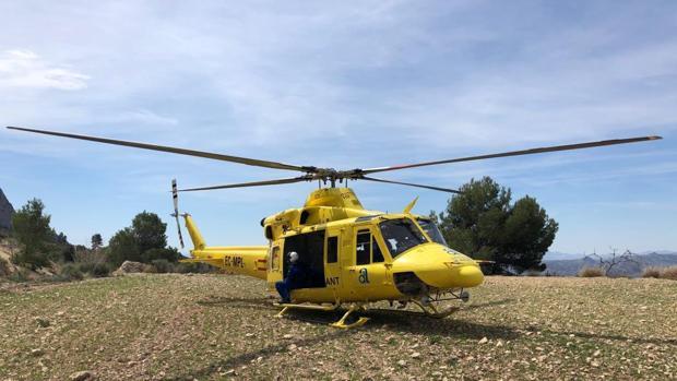 Helicóptero de rescates del Consorcio de Bomberos de Alicante
