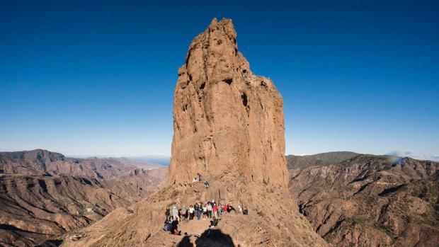 Equinoccio de otoño en el Bentayga gracias al marcador que nos dejaron los antepasados en Gran Canaria