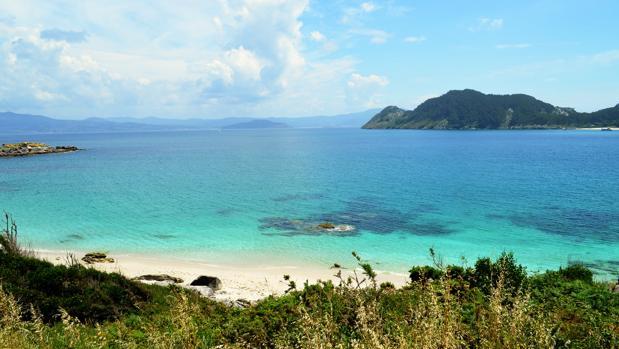 Arenal en las islas Cíes