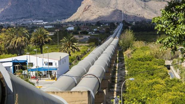 Conducciones del trasvase Tajo-Segura a su paso por Orihuela