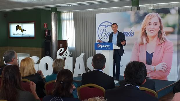 Alberto Núñez Feijóo este martes en Vigo