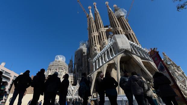 La basílica de la Sagrada Familia de Barcelona