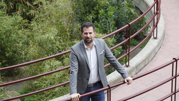 Luis Tudanca, durante la entrevista