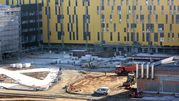Imagen de las obras del nuevo hospital de Toledo