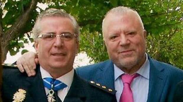 El comisario Salamanca con Villarejo, en una imagen de archivo