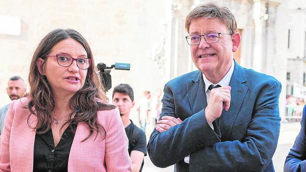 Ximo Puig y Mónica Oltra, este viernes en Burriana