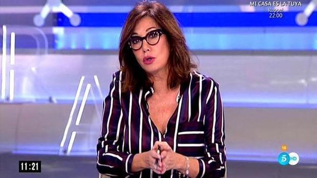 La periodista Ana Rosa Quintana, durante un instante de su programa