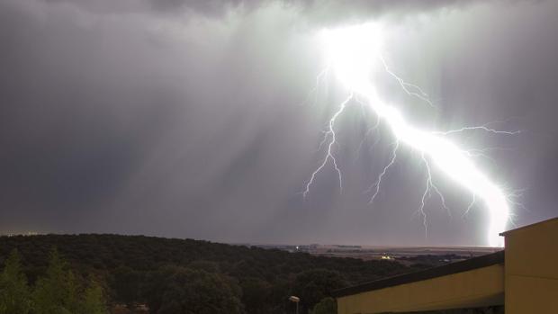 En las últimas horas se han producido en Castilla y León fuertes tormentas eléctricas