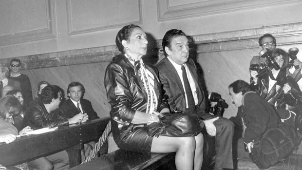 Lola Flores en el banquillo por delito fiscal, 1989