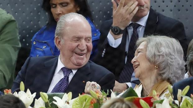 Don Juan Carlos y Doña Sofía en el Mutua Madrid Open