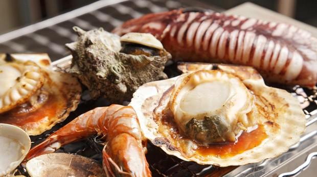 El marisco, uno de los alimentos que provoca más alergias en Navidad.