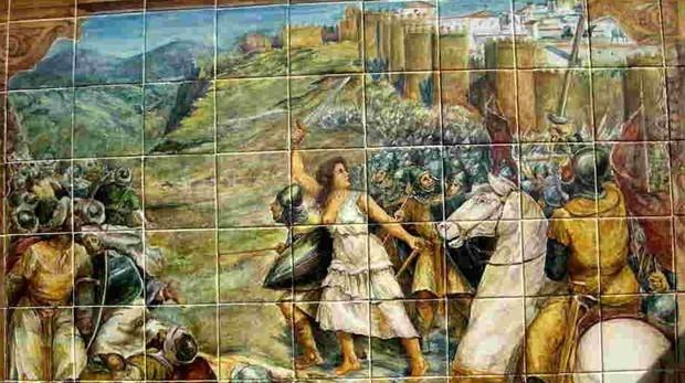 Recreación de la defensa de Ávila dirigida por Ximena Blázquez