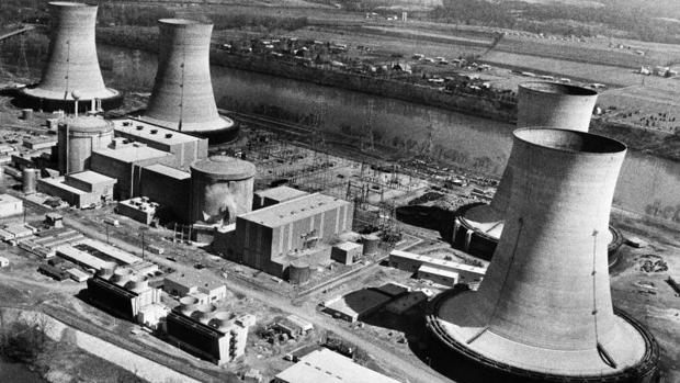 Vista aérea de la central nuclear Three Mile Island, en Harrisburg (Pensilvania, EE.UU.)