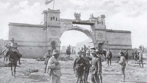 Monte Arruit, después de ser reconquistada por tropas españolas