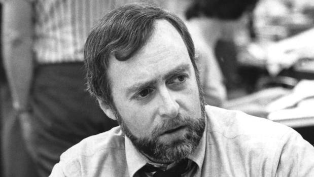 Sydney Schanberg, en la redacción de «The New York Times» en junio de 1976, a su regreso de Camboya
