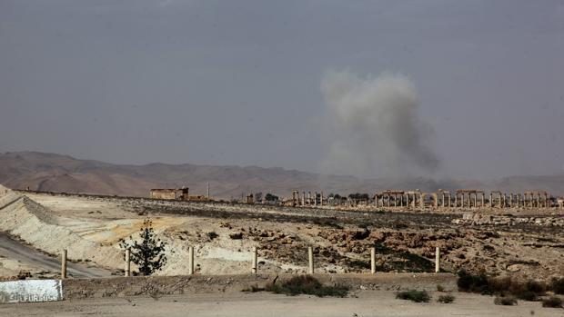 Vistas de Palmira durante los enfrentamientos entre Daesh y el Ejército sirio, en mayo de 2015