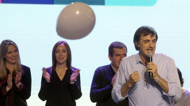 El candidato del oficialista frente Cambiemos al Senado por la provincia de Buenos Aires, Esteban Bullrich