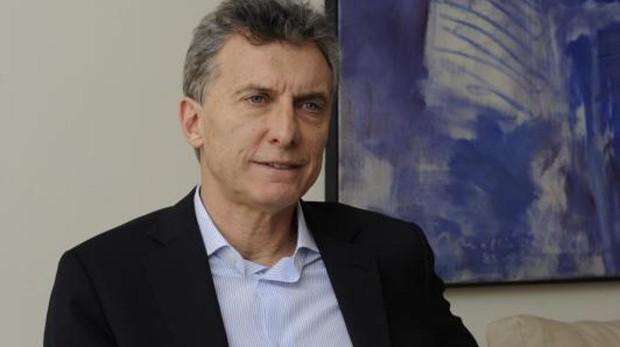 Macri durante una entrevista en Buenos Aires