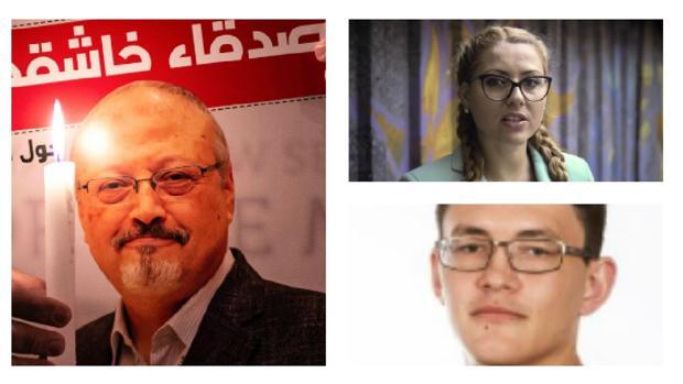Jamal Khashoggi, Viktoria Marinova y Jan Kuciak