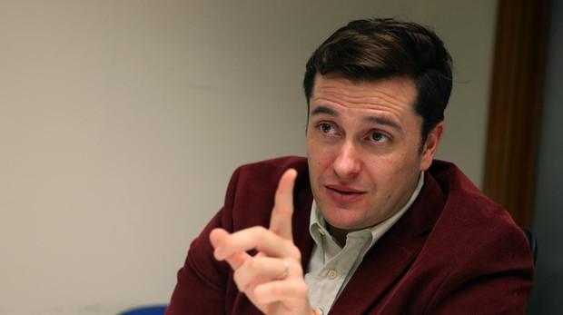 El periodista David Alandte, durante la entrevista con ABC esta semana en Madrid