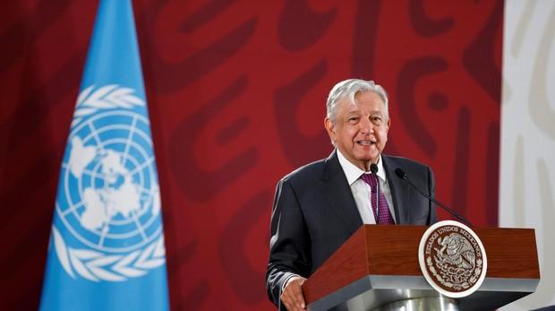 El presidente de México, Andrés Manuel López Obrador, este lunes