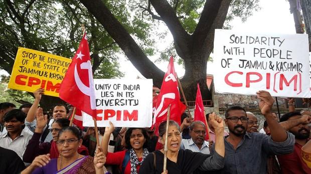 Protestas contra el primer ministro indio
