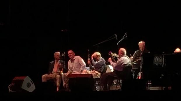 Woody Allen, junto a su banda en Madrid.