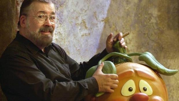 Chicho Ibáñez Serrador, con la calabaza Ruperta