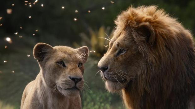 Escena de la nueva película «animada» de «El rey león»