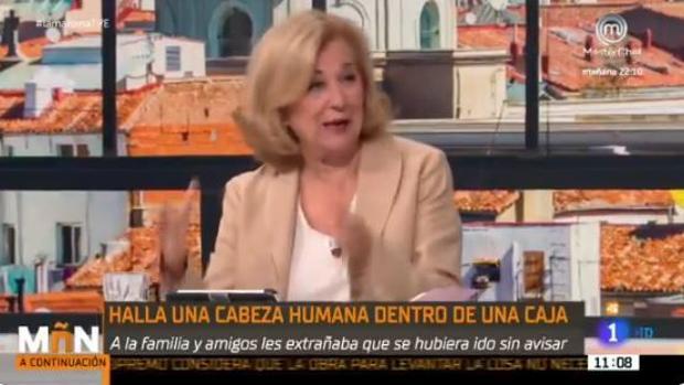 Carmen Enríquez, durante la emisión de «La Mañana»