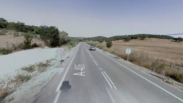 Vía entre las localidades de Morón y Pruna donde se encontraba el trabajador fallecido