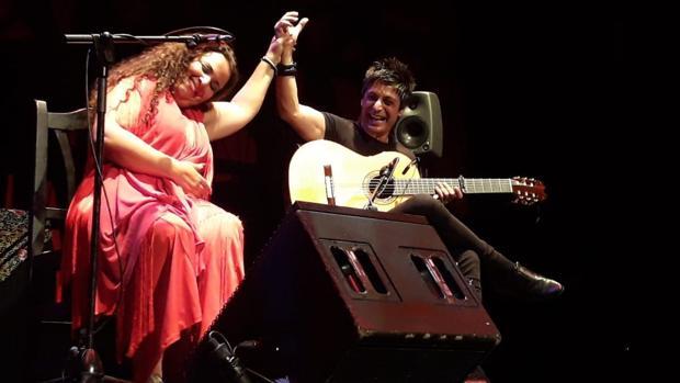 María José Carrasco durante su actuación
