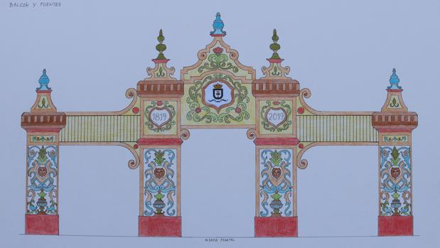 El boceto del artista loreño Manuel Nuño Heredia elegido como portada de la feria por su 200 aniversario