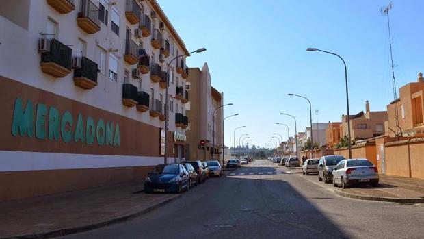 La calle Méjico de San Fernando, donde se encuentra el punto de venta de la ONCE