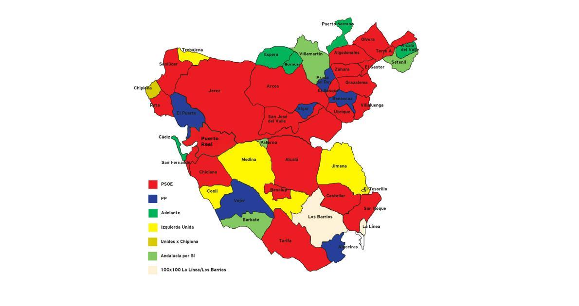 El Nuevo Mapa Del Poder Local En La Provincia De Cadiz