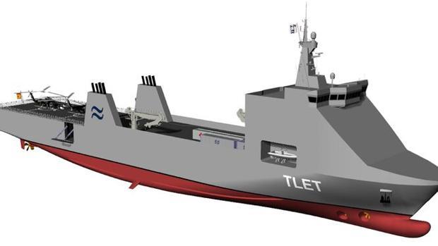 Buque de transporte militar diseñado por Navantia