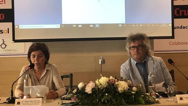 Raad Salam Naaman con Celia Ollero