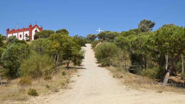 Cuesta que llega hasta la ermita del Cerro.